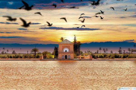 vista jardin de la menara marruecos